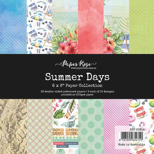 Paper Rose - 6x6 Paper Pack - Summer Days