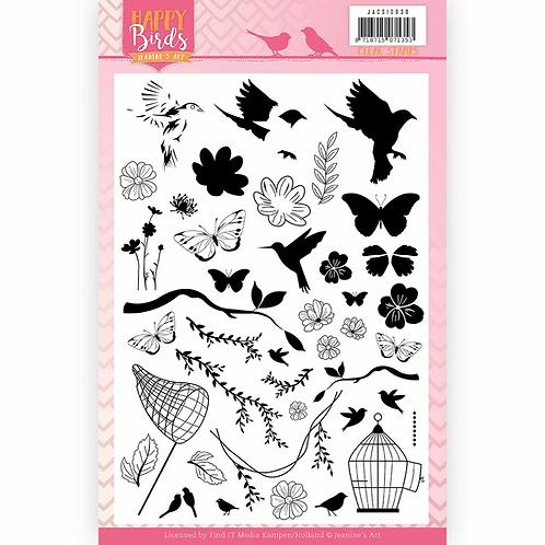 Jeanine's Art Happy Birds Stamp Set