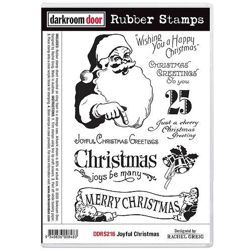 Darkroom Door® Rubber Stamp Set - Joyful Christmas