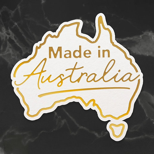Cut, Foil and Emboss Die - Sunburnt Country - Made in Australia (1pc)