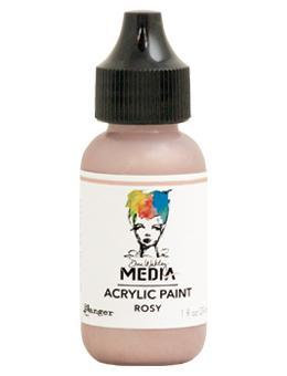 Dina Wakley® Media Acrylic Paint 1oz - Rosy