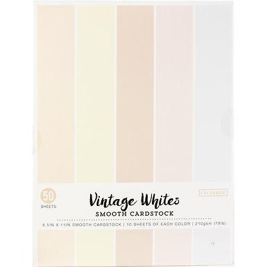 "Colorbok® Smooth Cardstock stack 8.5"" x 11"" - White Promenade"