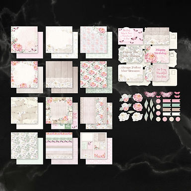 Couture Creations Collection Pack - Peaceful Peonies 12 x 12