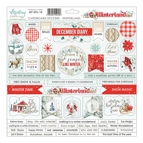 Winterland by Mintay Papers - 12 x 12 - Chipboard Stickers
