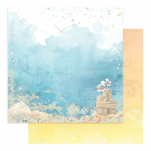 Couture Creations - Seaside Girl - Sheet 2 - 12 x12 Double Sided - 200gs