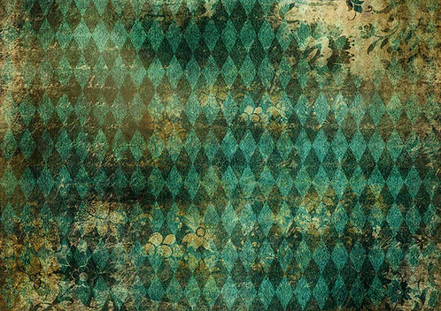 Decoupage Queen® Decoupage Paper - Teal Harlequin
