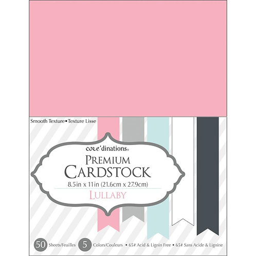 "Darice® Value Pack Smooth Cardstock 8.5""X11"" 50/Pkg - Lullaby"