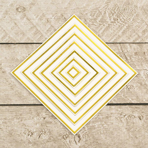Cut, Foil and Emboss - Modern Essentials - Nesting Squares