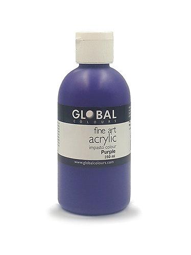 Global Artist Acrylic - Purple - 250ml