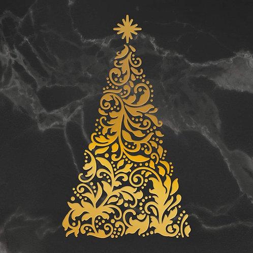 Hotfoil Stamp - Naughty or Nice - Ornate Christmas Tree