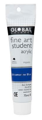 Global fine art student acrylic 75ml -Ultramarine Blue