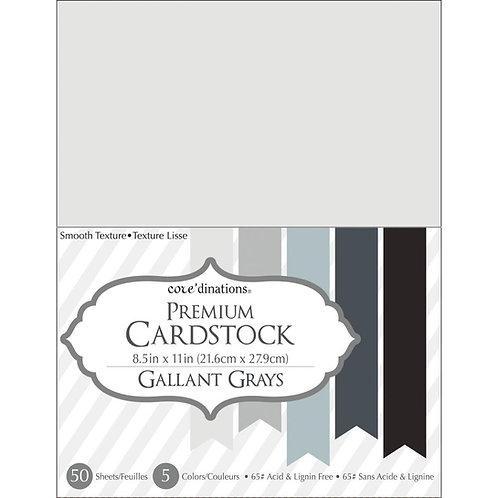 "Darice® Value Pack Smooth Cardstock 8.5""X11"" 50/Pkg - Gallant Grays"