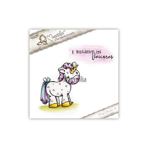 Magnolia® Unicorn with text stamp set
