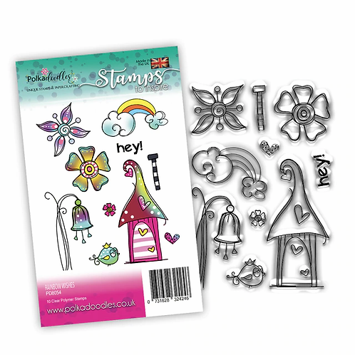 Rainbow Wishes Stamp Set by Polkadoodles®