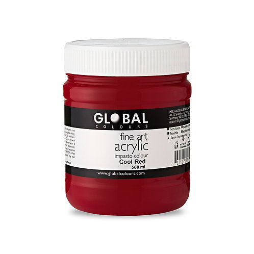 Cool Red - 500ml Fine Art Acrylic Impasto Paint