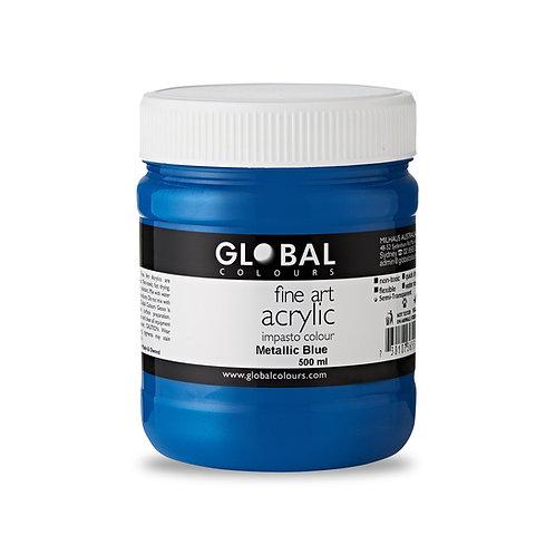 Metallic Blue - 500ml Fine Art Acrylic Impasto Paint