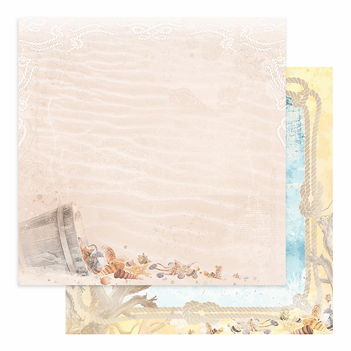 Couture Creations - Seaside Girl - Sheet 3 - 12 x12 Double Sided - 200gs