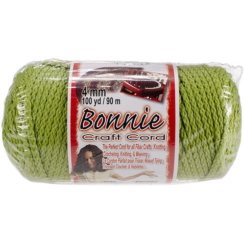 Pepperell-Bonnie Macrame Neon Craft Cord - Lime