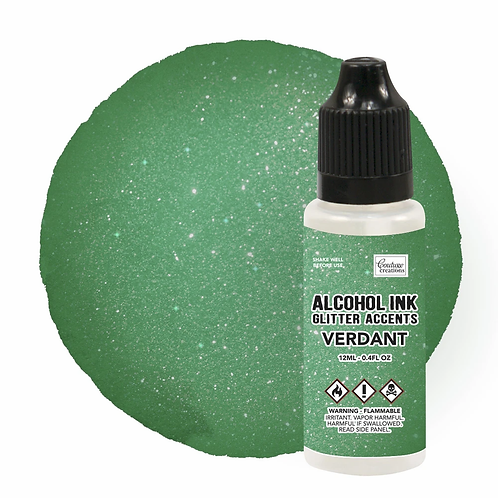 Couture Creations Alcohol Ink Glitter Accents - Verdant