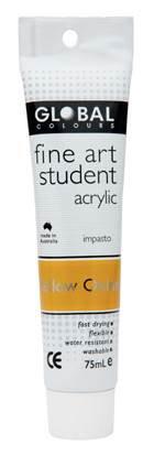 Global fine art student acrylic 75ml - Yellow Oxide