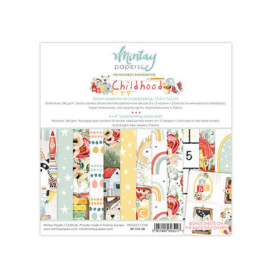 Childhood 6 x 6 Paper Collection by Mintay Papers
