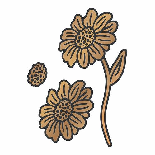 Cut and Create Die Set - Vintage Flowers - Standing Daisies