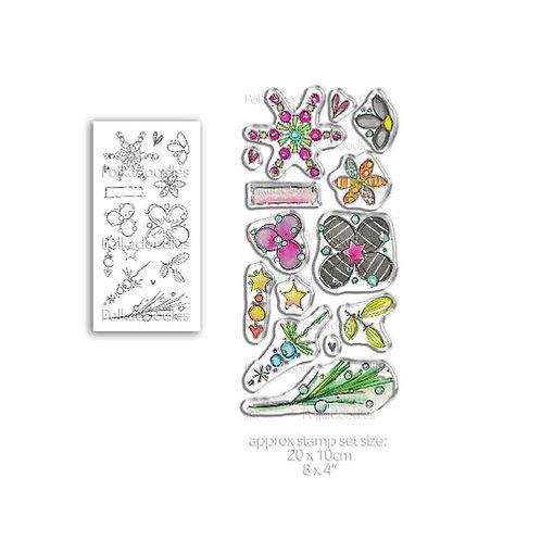 Polkadoodles® Floral Fireworks Stamp Set 1