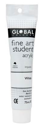 Global fine art student acrylic 75ml - White