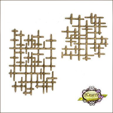 2Crafty Chipboard - Interlocking Grid Panel