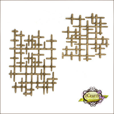 2Crafty Chipboard - Interlocking Grid Panel