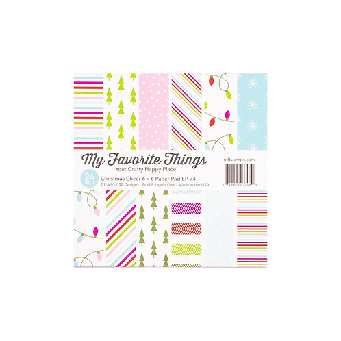 """My Favorite Things Single-Sided Paper Pad 6""""X6"""" - Christmas Cheer"""