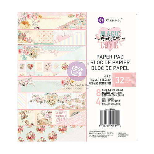 Magic Love Collection 6×6 Paper Pad – 32 sheets