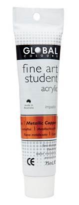 Global fine art student acrylic 75ml - Copper