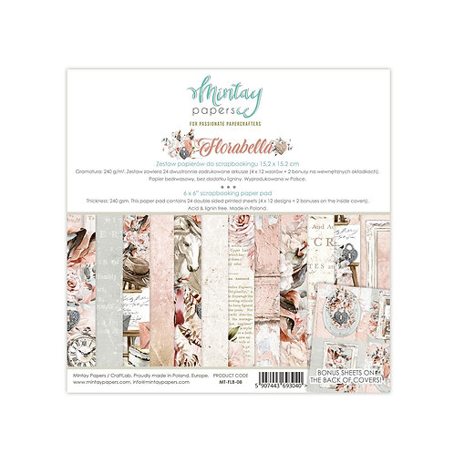 Florabella 6 x 6 Paper Collection by Mintay Papers