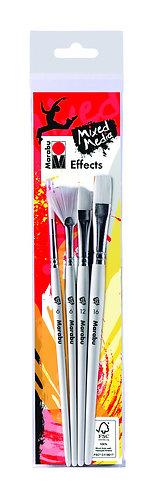 Marabu Effects Brush Set of 4