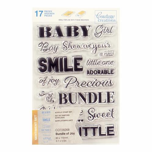 Stamp Set - Bundle of Joy Sentiment (17pc)