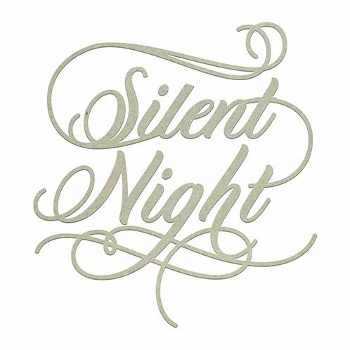 Chipboard - Christmas - Silent Night Sentiment