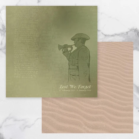 Lest We Forget Double Sided Paper 5 - 12x12