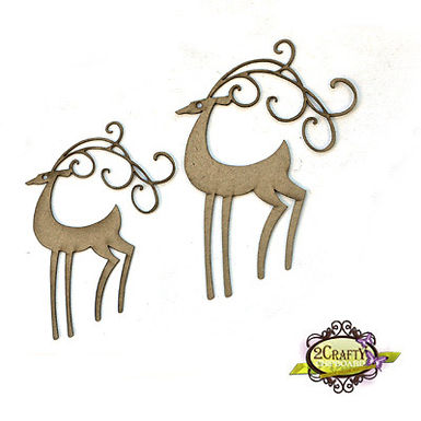 2Crafty Chipboard - Blitzen