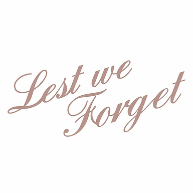 Couture Creations Mini Stamp - Lest We Forget