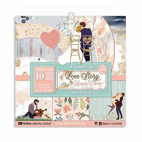 Stamperia® 8 x 8 Paper Pad - Love Story