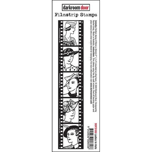 Darkroom Door® Filmstrip Stamp - Ladies in Hats
