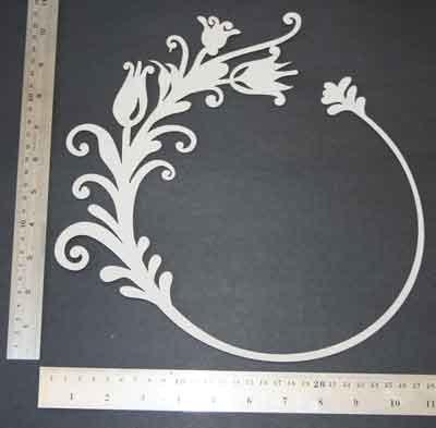 2Crafty Chipboard - Floral Frame