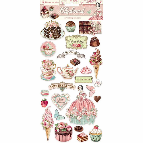 Stamperia® Chipboard - Sweety