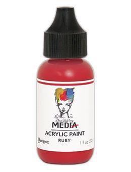 Dina Wakley® Media Acrylic Paint 1oz - Ruby