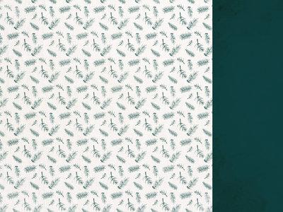 Emerald Eve 12x12 Scrapbook Paper - FIR SPRIGS