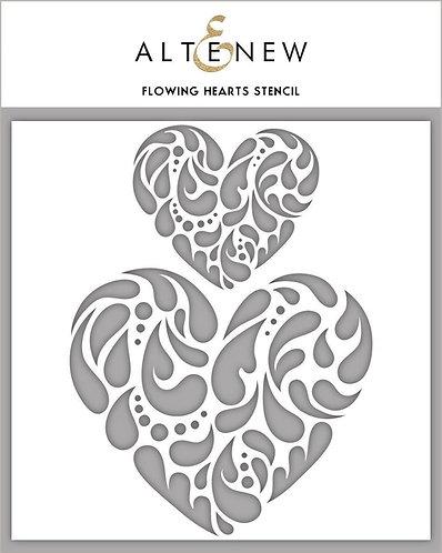 Altenew® Flowing Hearts Stencil