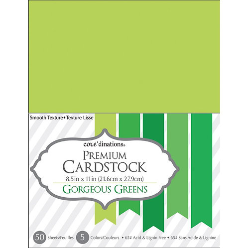 "Darice® Value Pack Smooth Cardstock 8.5""X11"" 50/Pkg - Gorgeous Greens"