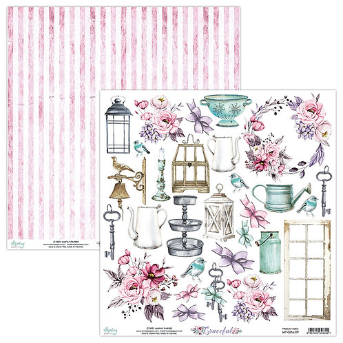 Graceful 12 x 12 Elements Paper by Mintay Papers