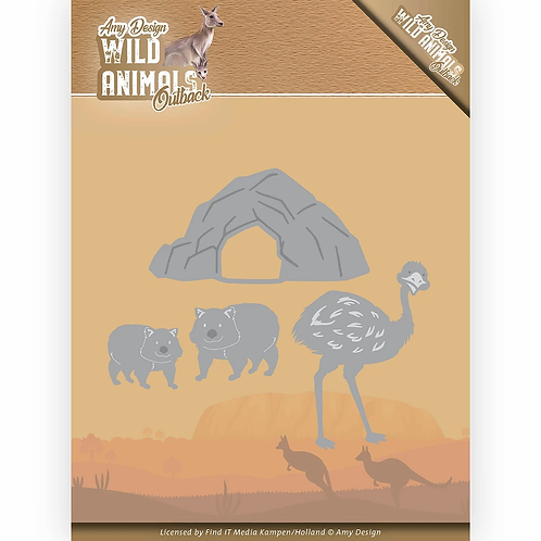 Amy Design® Wild Animals Outback - Emu and Wombat - Die